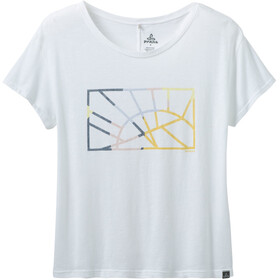 Prana Chez T-Shirt Damen white sun down